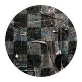 Το αφηρημένο χέρι χρωμάτισε την ακρυλική σύσταση σκακιού κύκλων Στοκ Φωτογραφίες