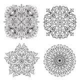 Το αφηρημένο mandala zentangles έθεσε Στοκ Εικόνα