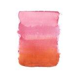 Το αφηρημένο watercolor χρώμα τέχνης μορφών ακουαρελών συρμένο χέρι ζωηρόχρωμο splatter λεκιάζει στο άσπρο υπόβαθρο Στοκ Φωτογραφίες