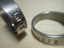 Το δαχτυλίδι αγάπης Στοκ φωτογραφία με δικαίωμα ελεύθερης χρήσης