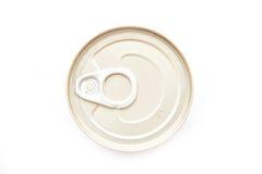 Το δαχτυλίδι μπορεί στα επικασσιτερωμένα τρόφιμα Στοκ Φωτογραφίες