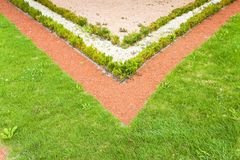 Το Α λεπτά ο κήπος παρουσιάζει χρώματά του Στοκ Φωτογραφία