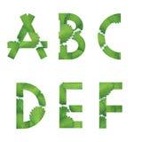 το αλφάβητο αγγλικά παγώνει τις ελαφριές εικόνες φωτογραφιών που παίρνουν την τεχνολογία χρησιμοποιούμενη ήταν Στοκ Φωτογραφία