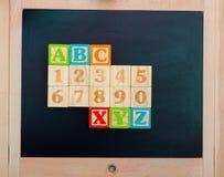 το αλφάβητο εμποδίζει ξύ&lambda Στοκ Φωτογραφία
