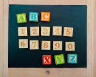 το αλφάβητο εμποδίζει ξύ&lambda Στοκ φωτογραφία με δικαίωμα ελεύθερης χρήσης
