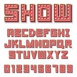 Το αλφάβητο με παρουσιάζει λαμπτήρες διανυσματική απεικόνιση