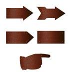 το βέλος καλύπτει σκου&r Στοκ εικόνα με δικαίωμα ελεύθερης χρήσης