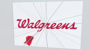 Το βέλος τοξοβολίας χτυπά το πιάτο με το λογότυπο WALGREENS Εταιρική εννοιολογική εκδοτική ζωτικότητα προβλημάτων διανυσματική απεικόνιση