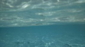 Το βίντεο επάνω από και κάτω από το νερό Μπανγκαλόου και υποβρύχιος κόσμος φιλμ μικρού μήκους