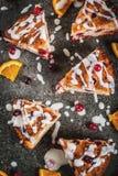 Το βακκίνιο και πορτοκάλι scones Στοκ εικόνα με δικαίωμα ελεύθερης χρήσης