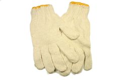 το βαμβάκι φορά γάντια στη γ Στοκ εικόνες με δικαίωμα ελεύθερης χρήσης
