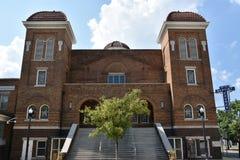 το βαπτιστικό Μπέρμιγχαμ 16$ου το 1963 ιστορικό γνωστό ορόσημο εκκλησιών της Αλαμπάμα βομβαρδίζοντας παρακίνησε το εθνικό τώρα ra Στοκ εικόνες με δικαίωμα ελεύθερης χρήσης