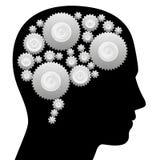 Το βαραίνω εγκεφάλου κυλά τη μηχανή σκέψης απεικόνιση αποθεμάτων