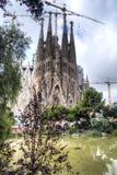 1882 το 2026 Βαρκελώνη είναι καθολικό ολοκληρωμένο εκκλησία familia expiatori κατασκευής αναμενόμενο de fam που χρηματοδοτείται έ Στοκ Φωτογραφία
