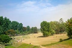 Το βασιλικό γήπεδο του γκολφ του Νεπάλ, Κατμαντού Στοκ Εικόνες