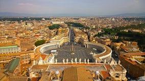 Το Βατικανό και η Ρώμη, Ιταλία πλατεία Peter s Άγιος Στοκ Φωτογραφίες