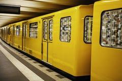 Το Βερολίνο u-Bahn είναι το πιό εκτενές υπόγειο δίκτυο Στοκ Εικόνες