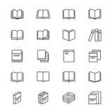 Το βιβλίο λεπταίνει τα εικονίδια Στοκ φωτογραφία με δικαίωμα ελεύθερης χρήσης