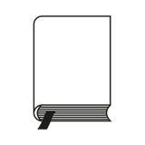 Το βιβλίο με το σελιδοδείκτη διάνυσμα διανυσματική απεικόνιση