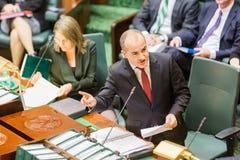 Το βικτοριανό κρατικό Κοινοβούλιο - ώρα των ερωτήσεων Στοκ Εικόνες