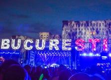 Το Βουκουρέστι γιορτάζει τη 557 επέτειο, συναυλία από το τετράγωνο συνταγμάτων Στοκ εικόνα με δικαίωμα ελεύθερης χρήσης