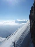 το βουνό κρυφοκοιτάζει Στοκ Εικόνες