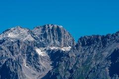 Το βουνό μέγιστο Koppenkarstein στο βουνό Dachstein έτρεξε Στοκ Εικόνα