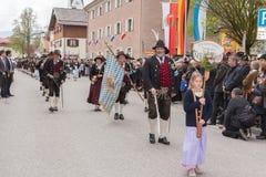 Το βουνό προστατεύει kompanie Reit im Winkel Στοκ φωτογραφίες με δικαίωμα ελεύθερης χρήσης