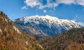 Το βουνό Begunjscica βλέπει την άνοιξη από το SV NAD Begunjami του Peter Στοκ Εικόνα