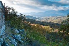 Το βουνό Demerdji Alushta, Κριμαία Στοκ Εικόνες