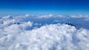 Το βουνό Merapi διαμορφώνει τον ουρανό Στοκ Εικόνες