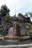Το βουνό Santa Lucia στο στο κέντρο της πόλης Σαντιάγο Στο πόδι αυτού του βουνού Conquistador Pedro de Valdivia ίδρυσε την πόλη Στοκ φωτογραφία με δικαίωμα ελεύθερης χρήσης