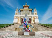 Το βουδιστικό συγκρότημα στοκ εικόνα