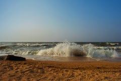 Το βράδυ της Azov παραλίας θάλασσας Στοκ εικόνες με δικαίωμα ελεύθερης χρήσης