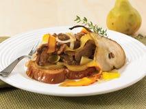 Το βόειο κρέας και το αχλάδι ανακατώνουν τα τηγανητά Στοκ φωτογραφία με δικαίωμα ελεύθερης χρήσης