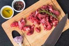 το βόειο κρέας κυβίζει α&k Στοκ φωτογραφίες με δικαίωμα ελεύθερης χρήσης