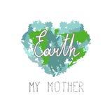 Το γήινο απόσπασμα μητέρων μου σε μια καρδιά από τις θαμπάδες ελεύθερη απεικόνιση δικαιώματος