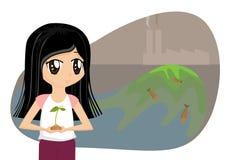 το γήινο κορίτσι κινούμεν&o απεικόνιση αποθεμάτων