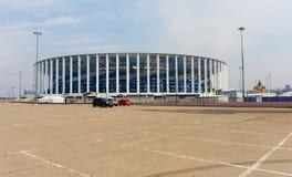Το γήπεδο ποδοσφαίρου σε Nizhny Novgorod είναι έτοιμο να συναντήσει τη FIFA το 2018 ι στοκ εικόνες με δικαίωμα ελεύθερης χρήσης