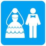 Το γαμήλιο ζεύγος στρογγύλεψε το τετραγωνικό εικονίδιο ράστερ διανυσματική απεικόνιση