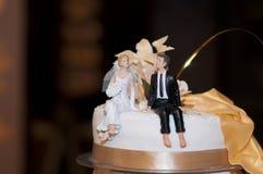 Το γαμήλιο κέικ Στοκ Εικόνες