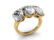 Το γαμήλιο δαχτυλίδι ομορφιάς στο άσπρο υπόβαθρο Στοκ Εικόνα