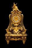 Το γαλλικό ρολόι κορνιζών τζακιού διαμορφώνει το 1730's Στοκ Εικόνες