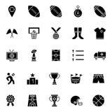 Το γεγονός ποδοσφαίρου απομόνωσε τα διανυσματικά εικονίδια καθορισμένα που μπορούν να τροποποιηθούν εύκολα ή να εκδώσουν απεικόνιση αποθεμάτων