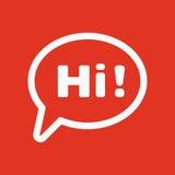 Το γεια εικονίδιο Χαιρετήστε και γειά σου σύμβολο επίπεδος διανυσματική απεικόνιση