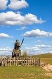 Το γενικό άγαλμα σε WulanBu όλο το αρχαίο πεδίο μάχη λιβαδιών Στοκ εικόνες με δικαίωμα ελεύθερης χρήσης
