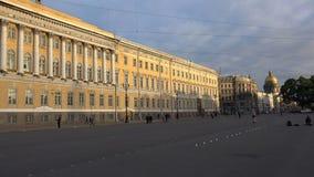 Το Γενικό Επιτελείο στο τετράγωνο παλατιών Άγιος-Πετρούπολη 4K απόθεμα βίντεο