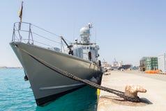 Το γερμανικό ταχύπλοο βρίσκεται στο λιμάνι Στοκ εικόνες με δικαίωμα ελεύθερης χρήσης