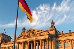 Το γερμανικό Reichstag, Βερολίνο Στοκ φωτογραφία με δικαίωμα ελεύθερης χρήσης