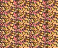 Το γεωμετρικό χέρι κλίσης σύρει τα σχέδια μελανιού Ζωηρόχρωμα αφηρημένα υπόβαθρα μωσαϊκών Διανυσματική απεικόνιση στις σκιές του  Στοκ Εικόνα